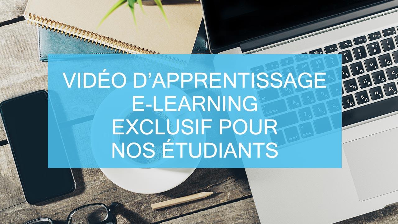 video apprentissage elearning exclusif etudiants